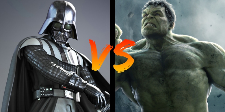 Battle Dark Vador vs Hulk My Geek Actu