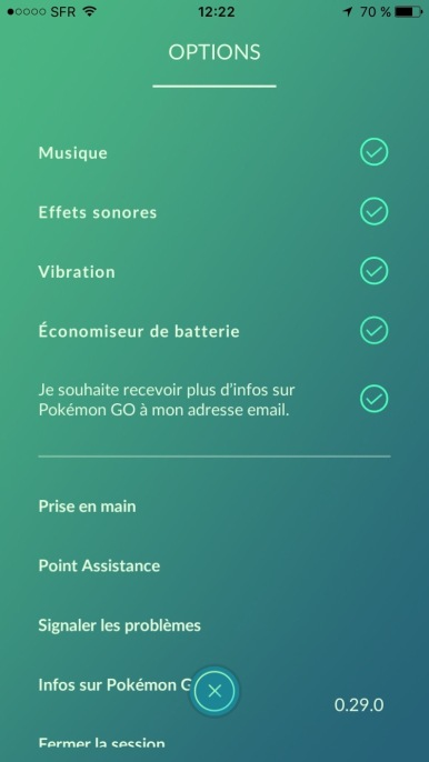 Pokemon GO Test My Geek Actu Infographie Reglages