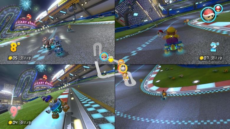 Mario Kart 8 Deluxe Test My Geek Actu 4 joueurs
