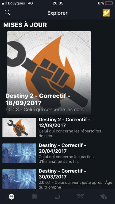 Destiny 2 Test My Geek Actu App iOS mises à jour