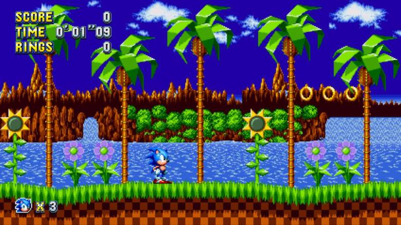 Sonic Mania Test My Geek Actu Green Hill Zone