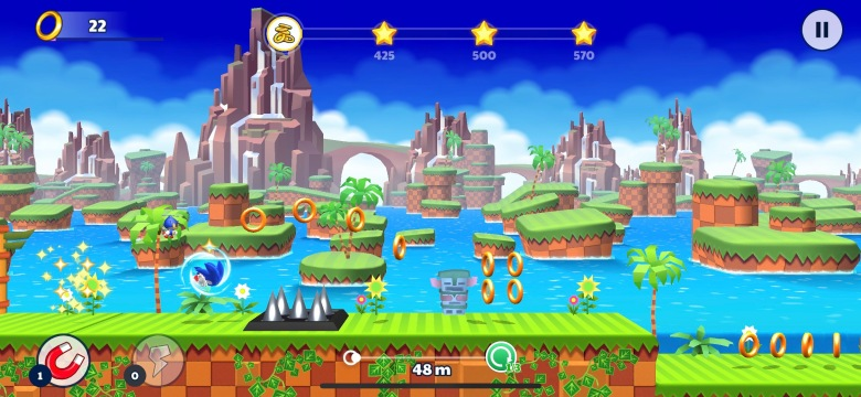 Sonic Runners Adventure Test iOS My Geek Actu Green Hill Zone