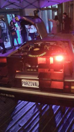 event ready player one arcade bar Dolorean my geek actu