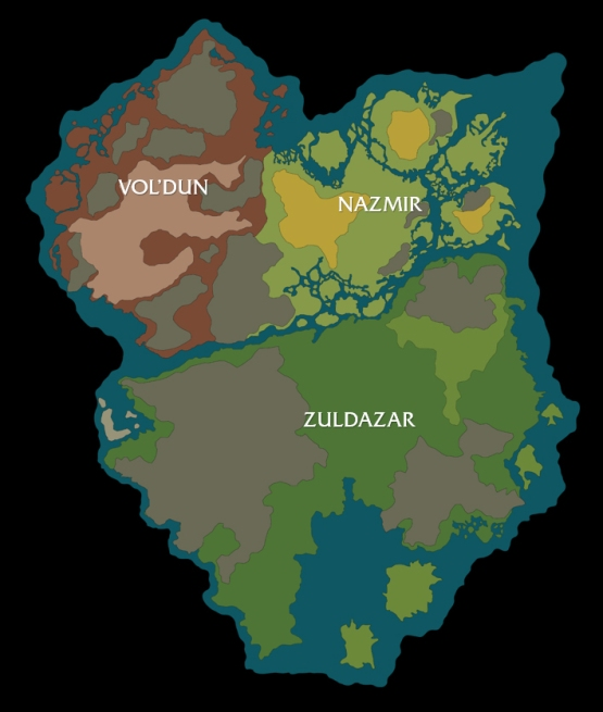 NEWS - WoW Battle For Azeroth - Carte de Zalandar